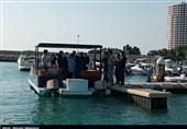قایق تفریحی پانتون بوت در کیش به آب انداخته شد