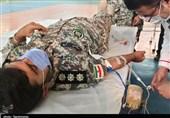 پرسنل پدافند هوایی جنوب غرب کشور در یک اقدام جهادی خون اهدا کردند + فیلم