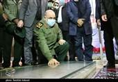 فرمانده کل سپاه به مقام شامخ سپهبد شهید سلیمانی ادای احترام کرد