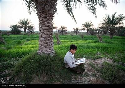 علی دانش آموز روستای علوه