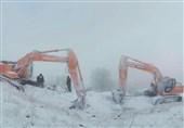 کشف پیکر مطهر شهدا در سرما و یخبندان کوهستان+فیلم