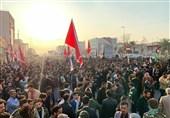 عراق حضور گسترده مردم بصره در مراسم بزرگداشت شهیدان سلیمانی و المهندس/ فریاد «انتقام انتقام» در جنوب عراق طنینانداز شد+فیلم و عکس