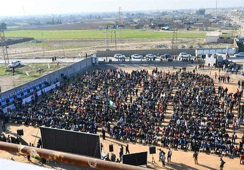 عراق مراسم بزرگداشت شهیدان سلیمانی و المهندس در نینوی/ اعلام احکام اولین کنفرانس بینالمللی حقوقی علیه اقدام تروریستی آمریکا