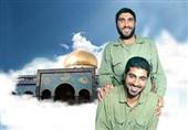 تصاویری از اشکهای شهید سلیمانی بر مزار شهید کاظمی