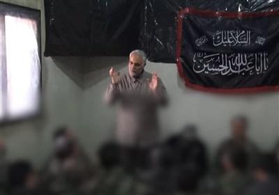 انتشار برای اولین بار | سخنان حاج قاسم در جمع نیروهای توپخانه پس از عملیات بزرگ الحاضر