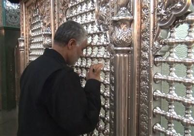 تشرف حاج قاسم سلیمانی به حرم حضرت زینب (سلام الله علیها)