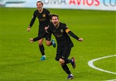 لالیگا  پیروزی پُرگل بارسلونا با درخشش مسی و گریزمان