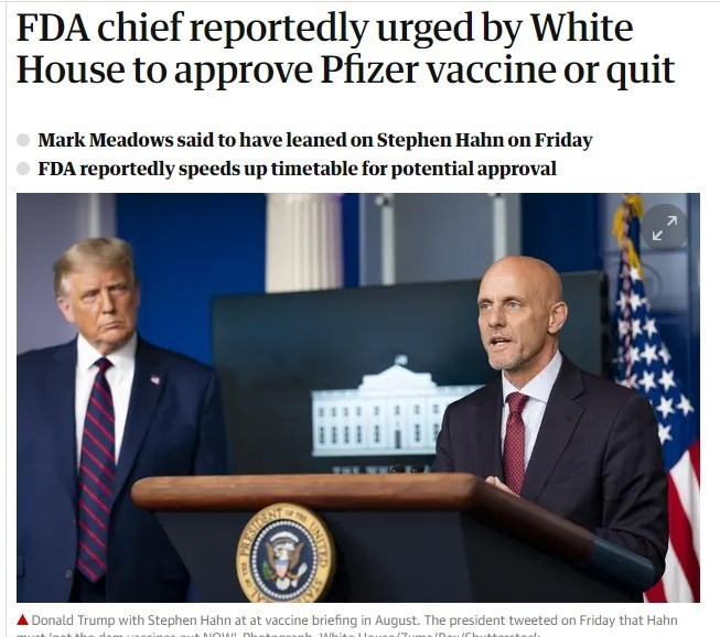واکسن کرونا , کاخ سفید ,