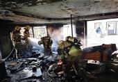 آتشسوزی دفتر فروش خودرو در بزرگراه ستاری + تصاویر