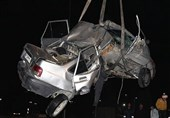تهران| له شدن پراید در تصادف شدید؛ سرنشینان ناپدید شدند!+ تصاویر