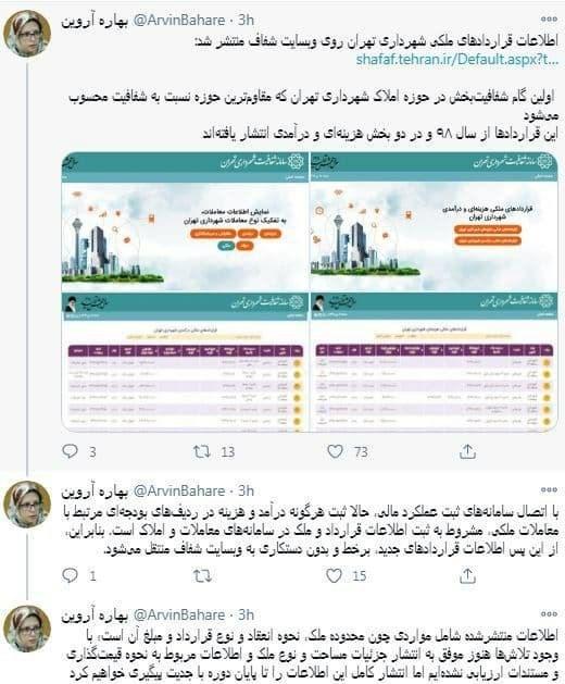 شهرداری تهران، شورای شهر تهران،
