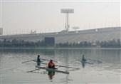 مسابقات روئینگ انتخابی المپیک کیمیا زارعی و زینب نوروزی در قایق دونفره فینالیست شدند
