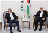 دیدار هنیه و النخاله با موضوع انتخابات فلسطین