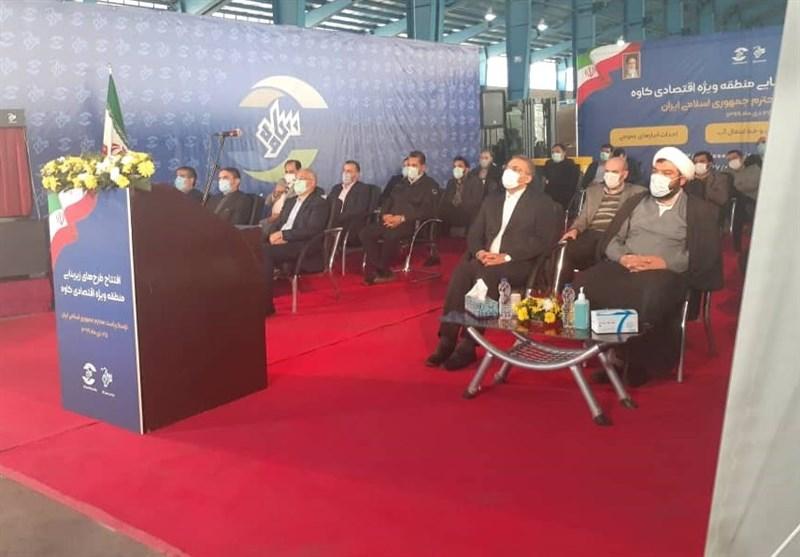 افتتاح 3 طرح بزرگ با مبلغ 3800 میلیارد ریال در منطقه ویژه اقتصادی کاوه 