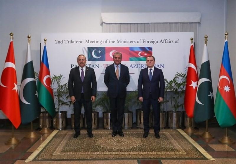 دیدار سه جانبه وزرای خارجه ترکیه، پاکستان و جمهوری آذربایجان در اسلام آباد