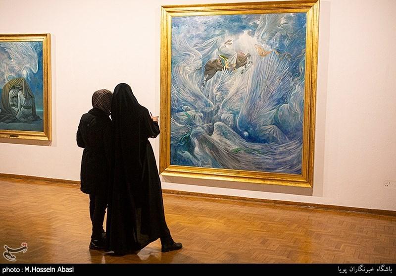 نقاشی که حاج قاسم سلیمانی لب به تحسین آثارش گشود+فیلم