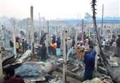آتش سوزی گسترده در اردوگاه مسلمانان روهینگیا در بنگلادش+فیلم