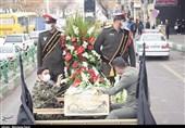 تشییع خودرویی شهدای گمنام دفاع مقدس در تبریز به روایت تصویر