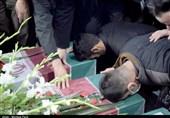 خاکسپاری 5 شهید گمنام در 4 نقطه از کشور