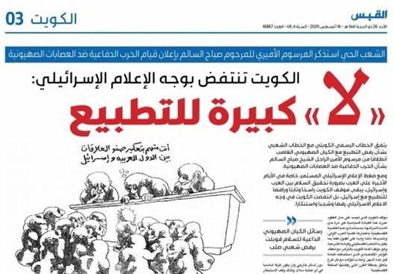 عذرخواهی روزنامه کویتی به دلیل استفاده از واژه «اسرائیل»