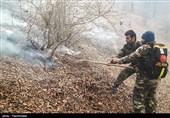 آتش به جان پارک ملی گلستان افتاد/تلاش برای اطفای حریق ادامه دارد