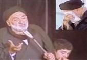 """ذکر مصیبت """"شب دفن حضرت زهرا (س)"""" توسط مرحوم کوثری در حضور امام خمینی (ره)"""