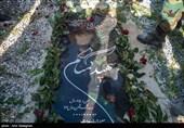پیکر شهید گمنام در پشتیبانی منطقه 2 ارتش شیراز تشییع و خاکسپاری شد