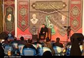 مداحی جانسوز احمد واعظی در شب شهادت حضرت زهرا(س) در جوار مزار حاج قاسم + فیلم