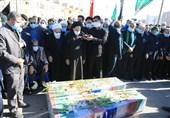 مردم خراسان جنوبی 5 شهید گمنام را با شکوهی خاص تشییع کردند
