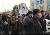بدرقه باشکوه شهید دفاع مقدس پس از 38 سال گمنامی / پیکر شهید صدقی در امامزاده عبدالله (ع) شهرری آرام گرفت + فیلم