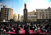 عزاداری شهادت حضرت زهرا (س) در میدان فاطمی تهران