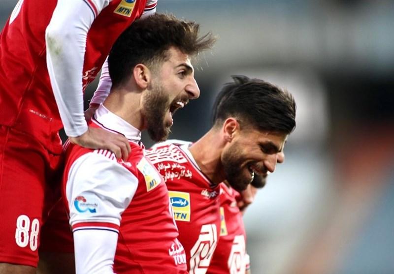 لیگ برتر فوتبال  پیروزی پرسپولیس مقابل فولاد در نیمه نخست