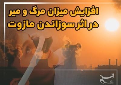 افزایش میزان مرگ و میر در اثر سوزاندن مازوت