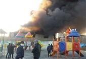 تهران| آتشسوزی گسترده در نزدیکی متروی شوش + فیلم و تصاویر