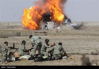 مناورات القوات البریة للجیش الإیرانی