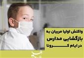 فیلم//پس از ماهها تعطیلی؛ بازگشایی مدارس به روایت والدین و معلمان