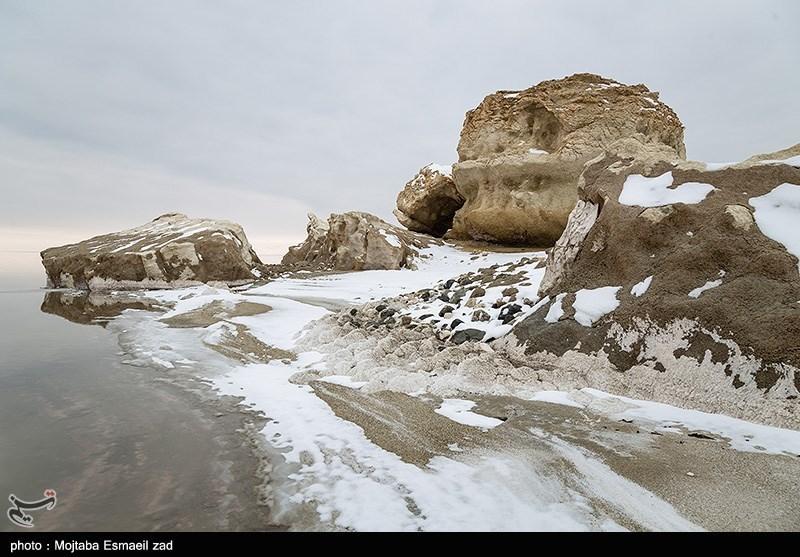 طبیعت زمستانی دریاچه ارومیه