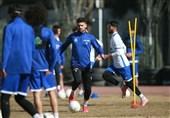 انجام فوتبال درون تیمی در تمرین امروز استقلال