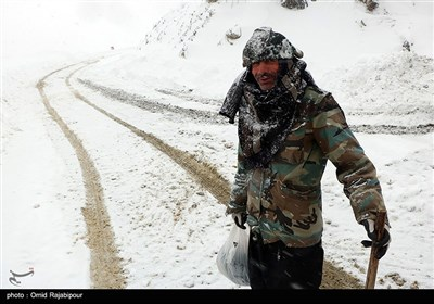 بارش برف سنگین در اشکورات رحیم آباد گیلان