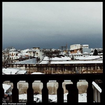 اولین برف زمستانی در رشت
