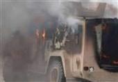 انفجار بمب در مسیر خودروی نظامیان آمریکایی و شبه نظامیان قسد در سوریه