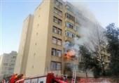آتشسوزی ساختمان 7 طبقه در شرق تهران + تصاویر