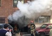آتشسوزی گسترده یک ساختمان در خیابان فرشته + فیلم و تصاویر