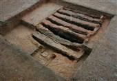"""شناسایی کوره آجرپزی دوره ساسانی در مسیر دیوار """" تمیشه"""" /کاوشهای باستانشناسی ادامه دارد"""