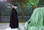 حضور امام خامنه ای در مرقد مطهر امام راحل و گلزار شهدای بهشت زهرا(س)