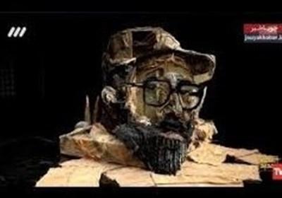 خلاقیت هنرمندانه با تصویر شهید چمران در عصرجدید
