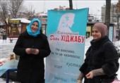 استقبال زنان اوکراینی از روسری در روز جهانی حجاب + عکس