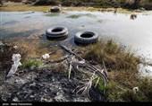 """مرگ تدریجی """"ونیز"""" ایران / آلودگی زیست محیطی در تالاب شادگان /کوههای پسماند در دل تالاب + تصاویر"""