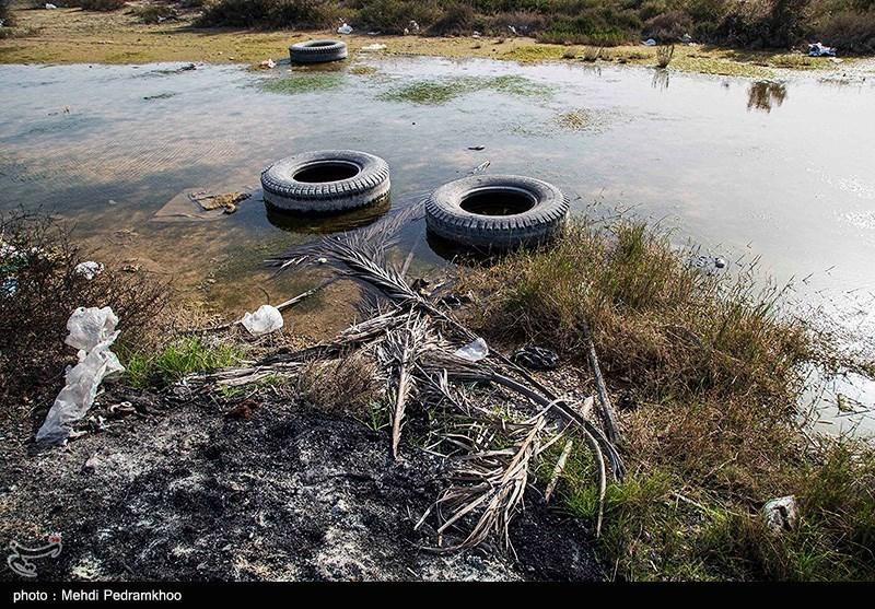 """مرگ تدریجی """"ونیز"""" ایران / آلودگی زیست محیطی در تالاب شادگان /کوههای پسماند در دل تالاب + تصاویر,"""