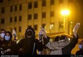 حضور طرفداران علی انصاریان اطراف بیمارستان فرهیختگان